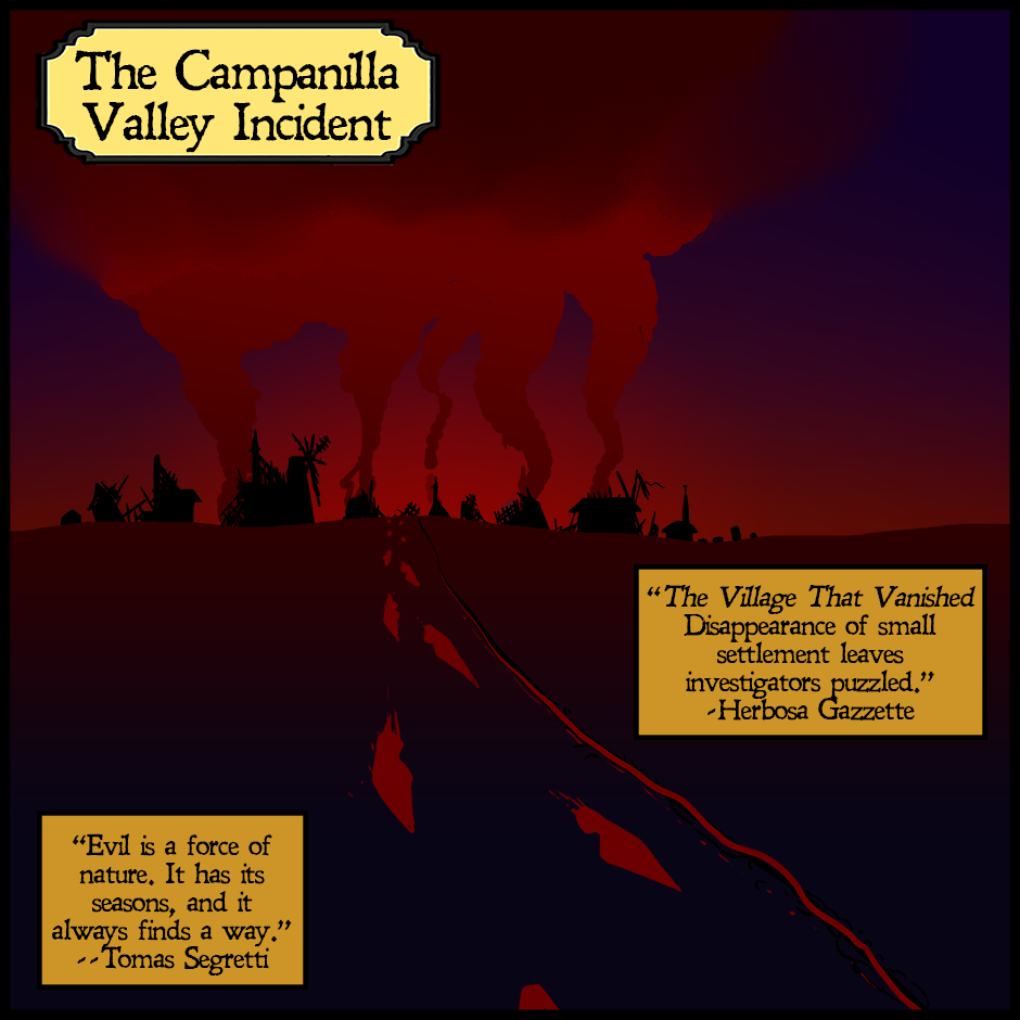 Inktober Day 20: The Campanilla Valley Incident